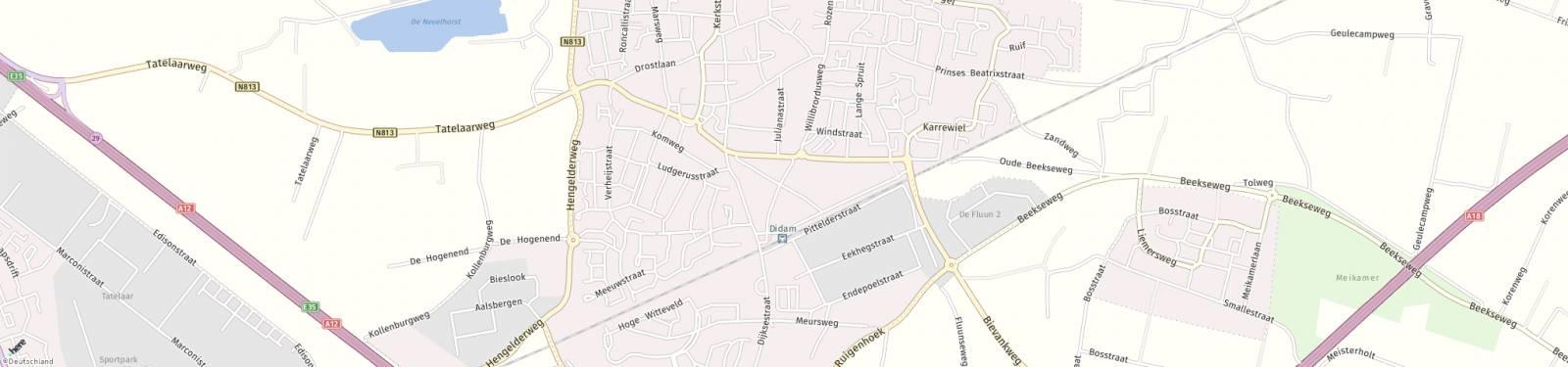 Kaart met locatie Appartement Willibrordusweg
