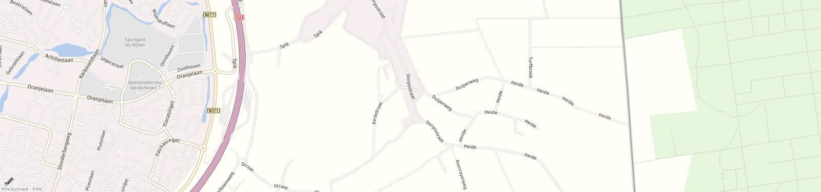 Kaart met locatie Overig Dorpsstraat